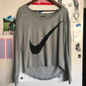 Nike long sleeve gray tee